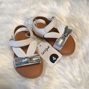 Cat and Jack • NWT bunny ears sandals Sz 4